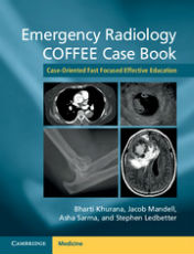 "ok�adka ksi��ki: ""Emergency Radiology COFFEE Case Book Case-Oriented Fast Focused Effective Education"""