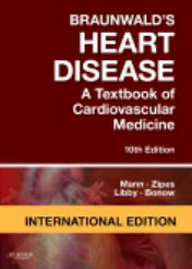 "ok�adka ksi��ki: ""Braunwald's Heart Disease: A Textbook of Cardiovascular Medicine, International Edition, 10th Edition"""
