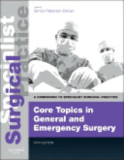 "ok�adka ksi��ki: ""Core Topics in General & Emergency Surgery - Print and E-Book, 5th Edition"""
